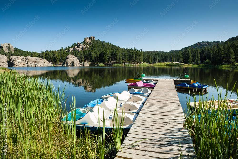Fototapeta Sylvan Lake at SD Hwy 87 in Custer State Park, SD