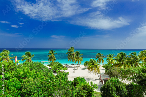 Obraz na plátně  Stunning gorgeous beautiful, amazing view of Holguin province tropical inviting