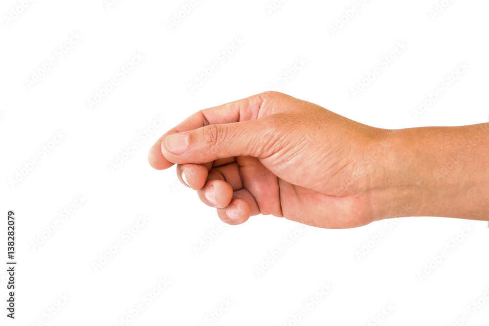 Fototapety, obrazy: man hand to hold something