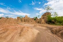 "The Pillar Of The Soil Is Called ""Sao Din Na Noi"". Located In Sri Nan National Park, Nan, Thailand."
