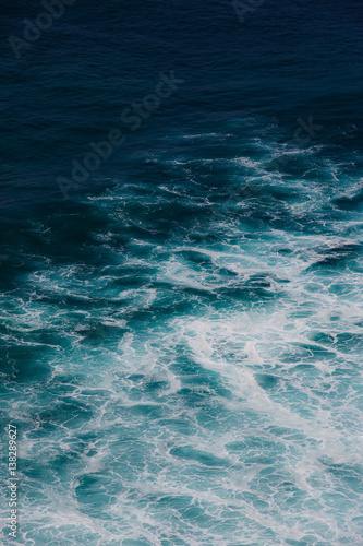 Foto auf Acrylglas Bestsellers Indian ocean texture. Turquoise sea water with white foam. Powerful and peaceful nature concept.