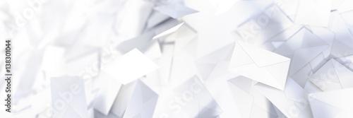 Fotografie, Obraz  Infinite mail envelopes, 3d rendering background
