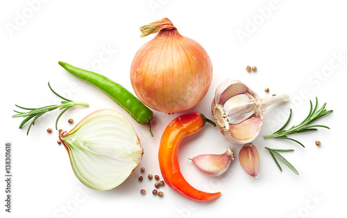 composition of onions and spices