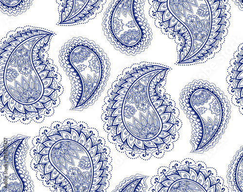 Fotografering  Vintage paisley seamless pattern