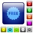Free sticker color square buttons