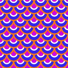 Blue, Orange Seamless Pattern