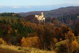 dolnoslaskie, castle grodno, architecture, autumn, zagorze sl, silesia, poland, lower silesia, golden, train, sowie, gory, mountain