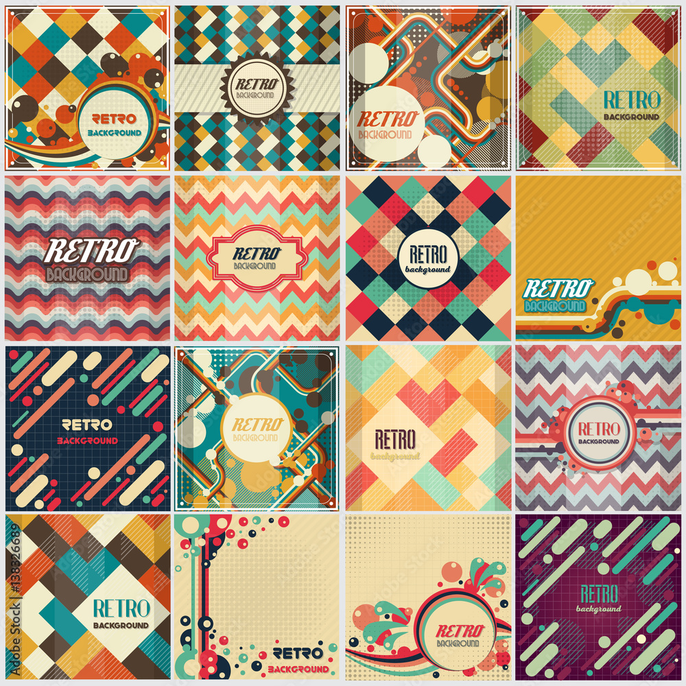 Fototapety, obrazy: Old retro Vintage style background Design Template