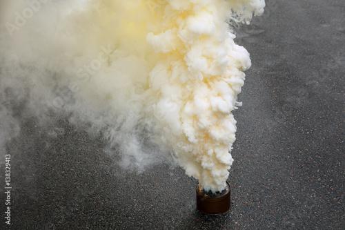 Fotografering  Fuming smoke bomb