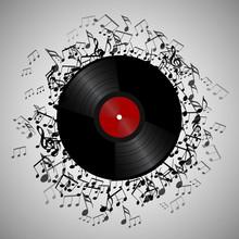 Illustration Of Vinyl Record W...