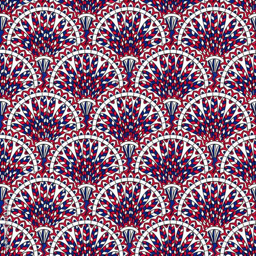 Vintage hand drawn seamless pattern Slika na platnu