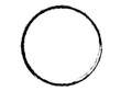 Grunge Circle made with brush for your design.Handmade Brush stroke.