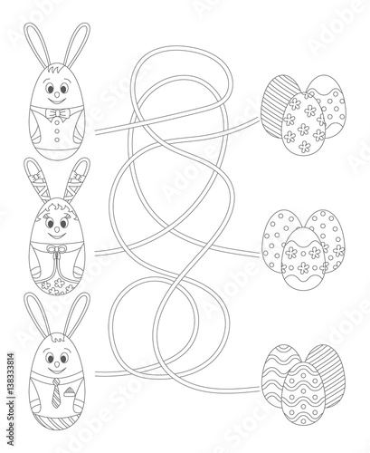 Easter Coloring Pages: Easter Mazes - The Activities For Preschoolers | 500x409