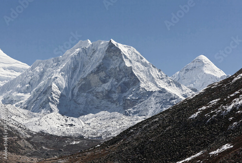Obraz na plátně Island peak (6189 m) in district Mt. Everest - Nepal, Himalayas