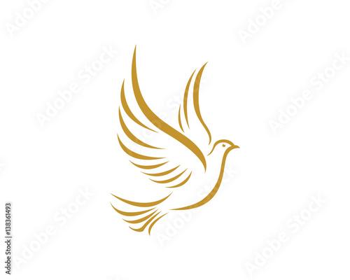Dove bird logo Wall mural