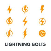 Lightning Bolt Vector Signs, I...