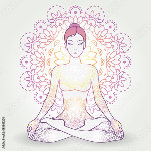 Padmasana Decoration Wallpaper Mural