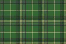 Green Check Plaid Tartan Seamless Pattern
