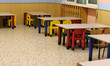 benches and seats of a class of a preschool without children