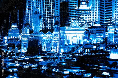 Texture, background. textiles. cotton cloth. Figure Las Vegas Poster