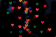 Abstract heart bokeh background, Love Valentine's day background