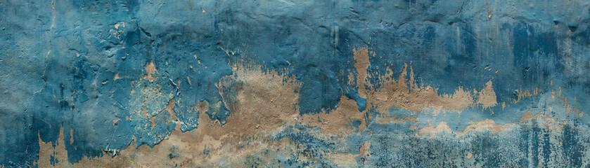 Fototapeta Struktura ściany Dirty wall with broken painted plaster.