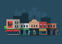 Illustrated Vector City Villag...