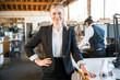 Confident pose from female writer, businesswoman, attorney, journalist, designer, staff employee