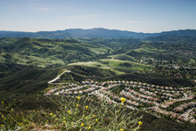 Aerial View Of Agoura Hills An...