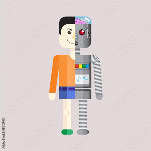 Fotografie, Obraz  Human Droid