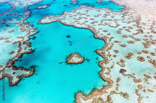 Tuinposter Turkoois Heart Reef Whitsundays