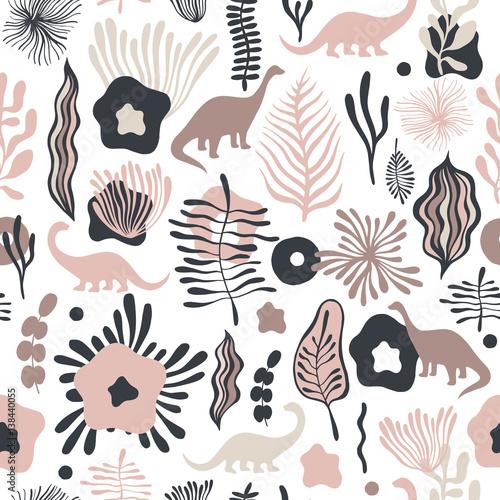 wektorowy-bezszwowy-wzor-z-fantastycznymi-kwiatami-i-dinosaurami-moze-byc-stosowany-do-tapet-tla-strony-internetowej-tekstur-powierzchni