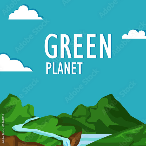 Keuken foto achterwand Turkoois Green planet