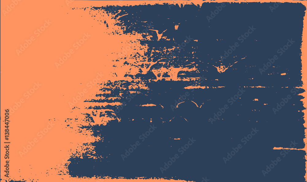 Fototapeta Grunge texture background. Abstract orange dark blue old rough retro design.