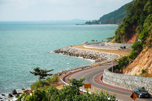 Chaloem Burapha Chonlathit Roadside The Sea In Chantaburi Thailand
