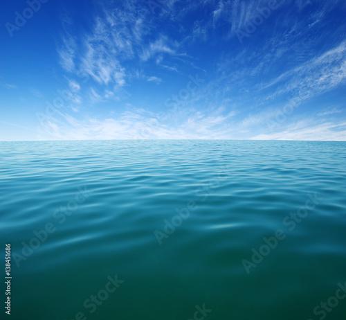 Fototapeta Blue sea water surface obraz na płótnie