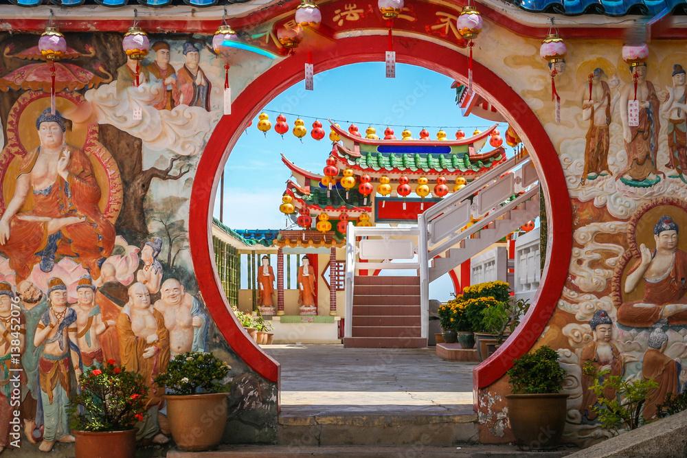 Fotografía Decorations in Kek Lok Si Temple