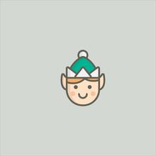 Elf Icon Flat Design