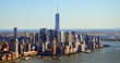 New York, USA, September 28, 2013: New York Aerial view of Manhattan Skyline