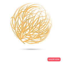 Tumbleweed Color Flat Icon For...