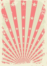 Grunge Vintage Background With Stars And Sunbeams