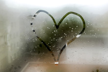 Heart On Steamy Pane