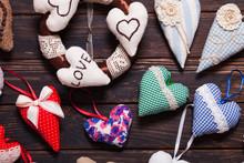 Variety Of Handmade Hearts