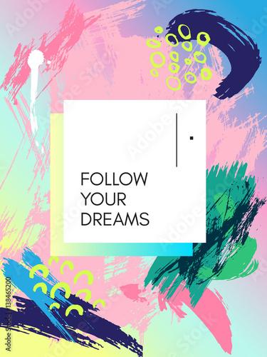 projekt-plakatu-w-stylu-lat-80-tych-90-tych-kolor-tla-tekstury-malowane-pedz