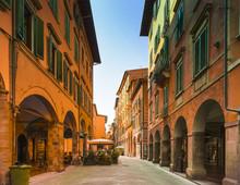 Shopping Street In Pisas Old Town, Pisa, Italy, Europe