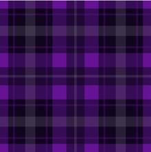 Seamless Purple, Black Tartan - White Stripes