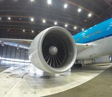 Big Jet Plane Inside Hangar