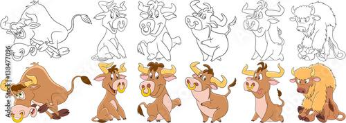 Fényképezés  Cartoon animals set
