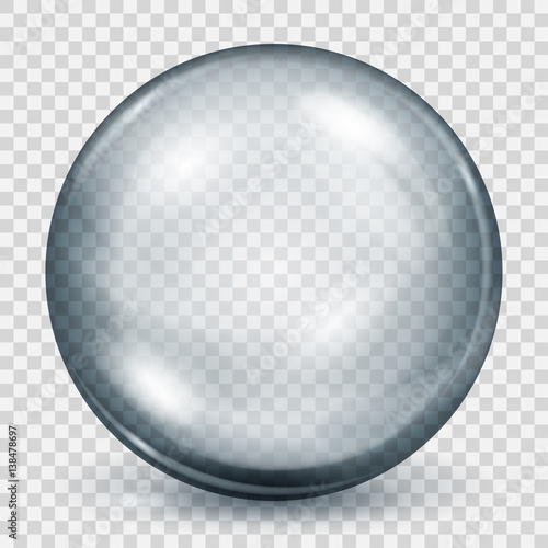 Transparent gray sphere with shadow Wall mural