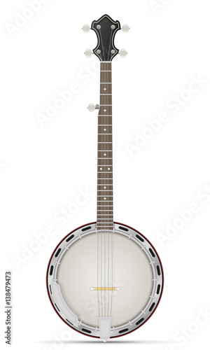 banjo stock vector illustration Wallpaper Mural